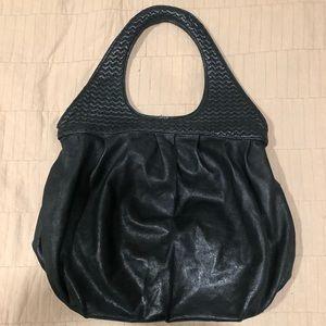 Alexander Mc Queen McQ black leather bag